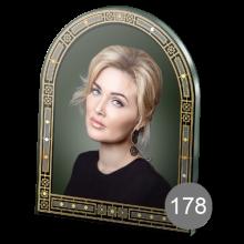 арочный портрет на стекле с орнаментом 178