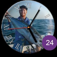 Часы керамические с фотографией 24