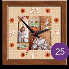 Часы керамические с фотографией 25