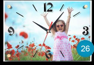 Часы с фото в пластиковом корпусе 26