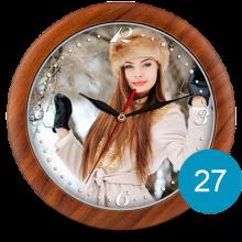 Часы с фото в пластиковом корпусе 27