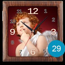 Часы с фото в пластиковом корпусе 29