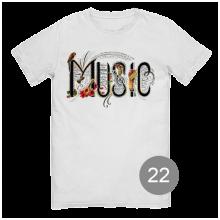 "футболка с принтом ""music"""