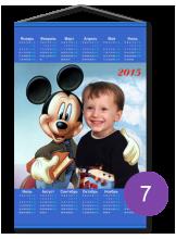 """Календарь на ткани """"с мики маусом"""""""