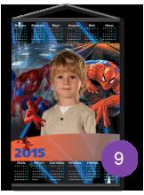"Календарь на ткани ""человек-паук"""