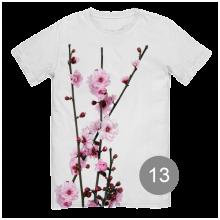 """футболка с принтом """"яблони в цвету"""""""