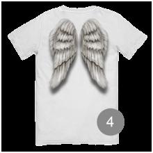 """футболка с принтом """"Крылья ангела"""""""
