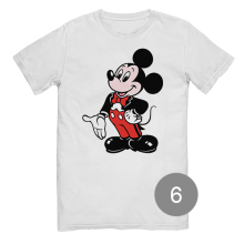 "футболка с принтом ""Микки Маус"""