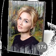 прямоугольный портрет на стекле с орнаментом 174