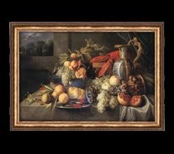 Репродукция «Натюрморт с омаром и хлебом» А.А .Коосеманс