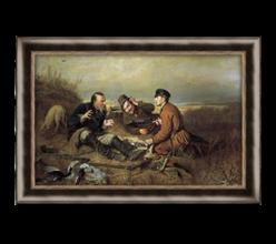 Репродукция «Охотники на привале» В.Г. Перов