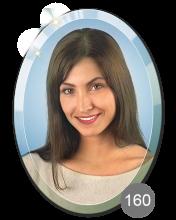 портрет на стекле овальный